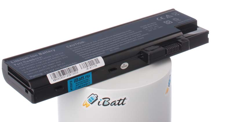 Аккумуляторная батарея для ноутбука Acer TravelMate 5623AWLMi. Артикул iB-A111H.Емкость (mAh): 5200. Напряжение (V): 11,1