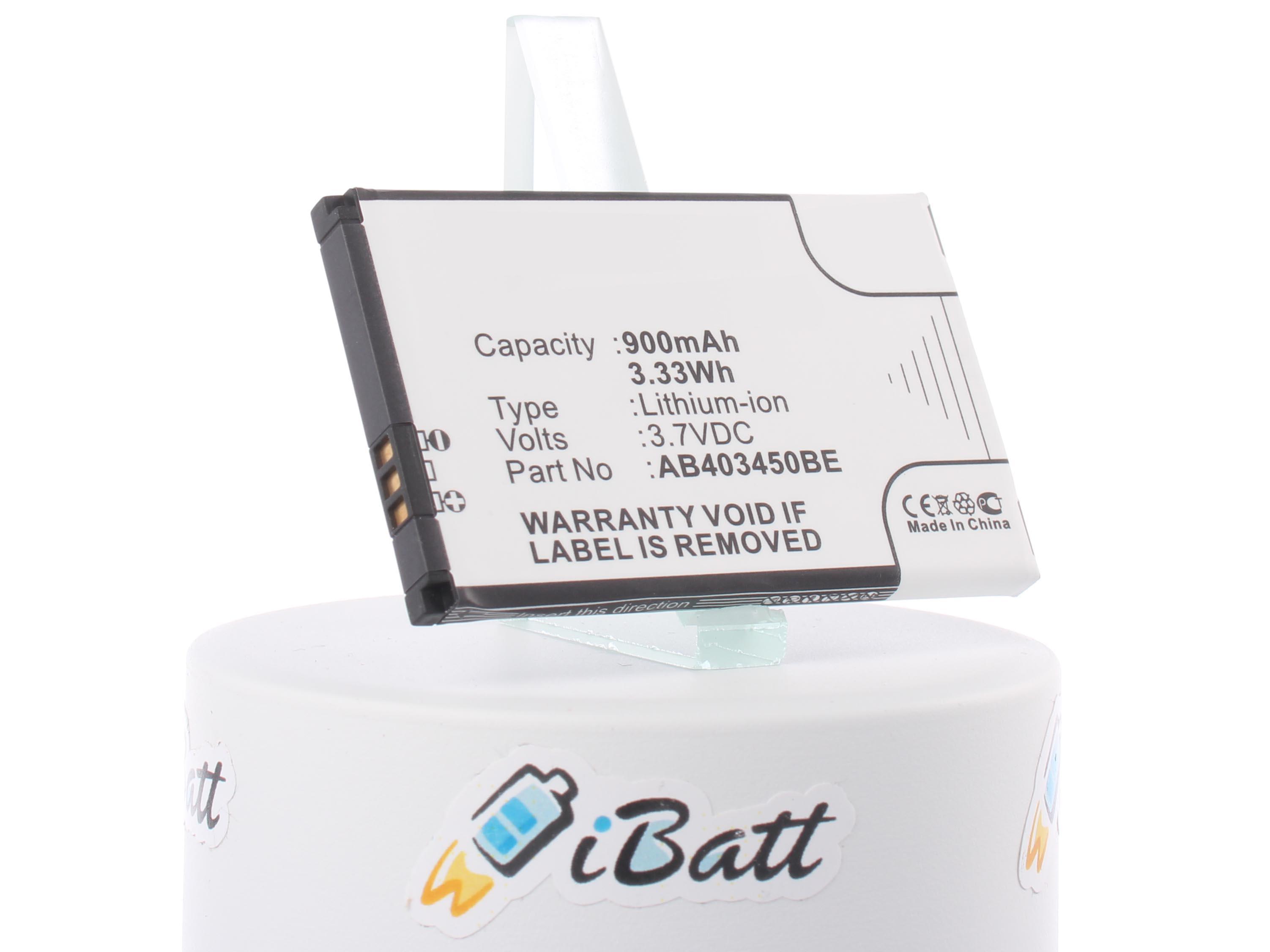 Аккумуляторная батарея для телефона, смартфона Samsung SGH-E790. Артикул iB-M263.Емкость (mAh): 900. Напряжение (V): 3,7