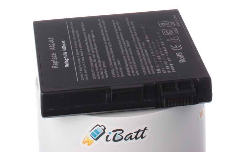 Аккумуляторная батарея для ноутбука Asus A4. Артикул iB-A175H.Емкость (mAh): 5200. Напряжение (V): 14,8