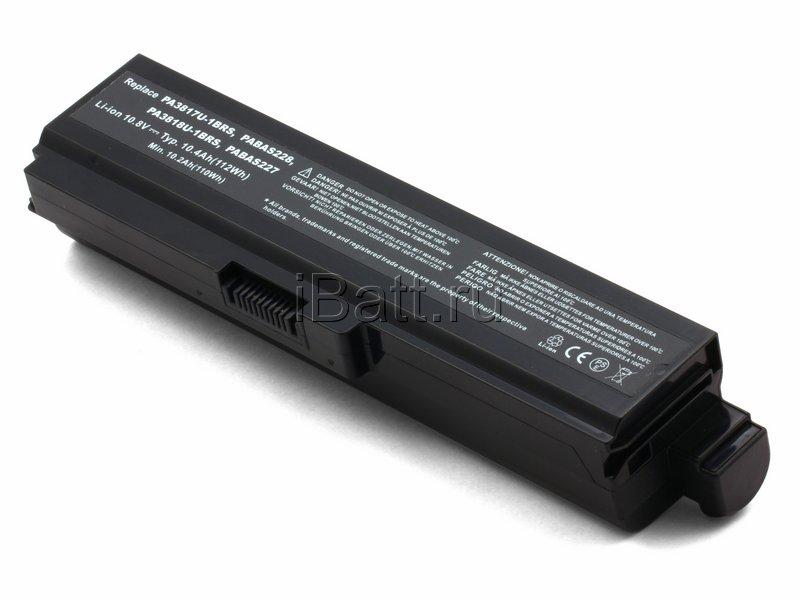 Аккумуляторная батарея PA3818U-1BRS для ноутбуков Toshiba. Артикул iB-A499.Емкость (mAh): 8800. Напряжение (V): 10,8