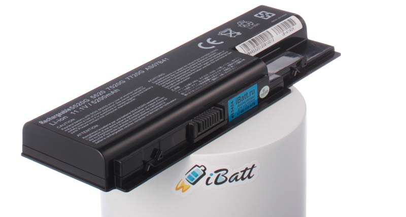 Аккумуляторная батарея для ноутбука Acer Extensa 7630G-582G16Mi. Артикул iB-A140H.Емкость (mAh): 5200. Напряжение (V): 11,1