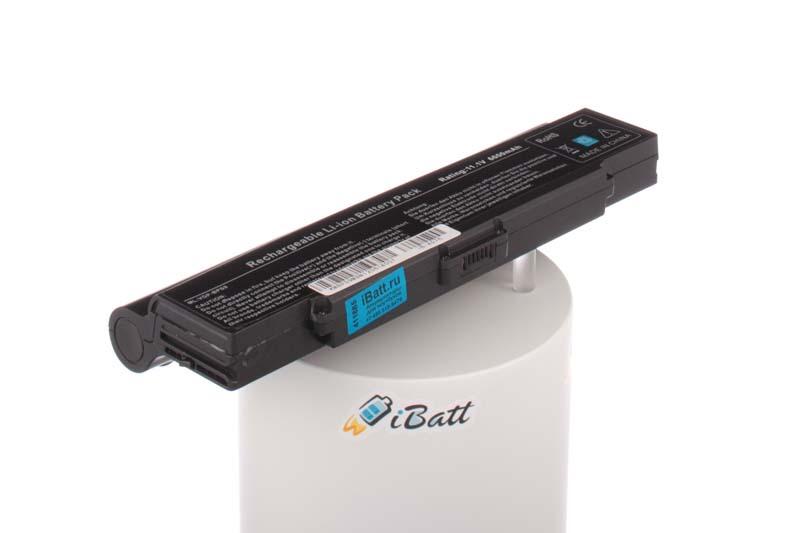 Аккумуляторная батарея iBatt iB-A576 для ноутбука SonyЕмкость (mAh): 6600. Напряжение (V): 11,1