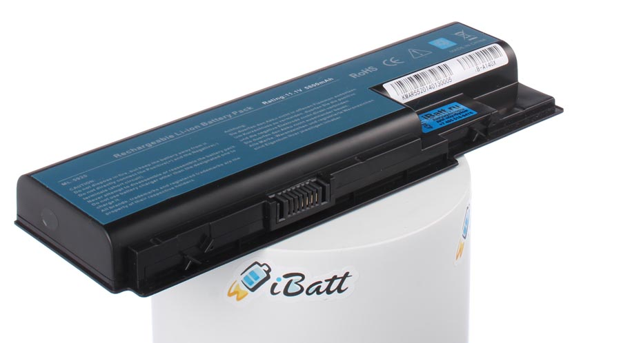 Аккумуляторная батарея для ноутбука Acer Aspire 5920G-604G32Mi. Артикул iB-A140X.Емкость (mAh): 5800. Напряжение (V): 11,1