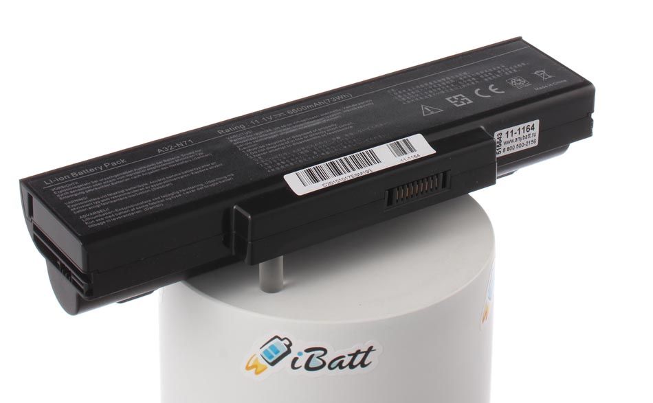 Аккумуляторная батарея CS-AUK72HB для ноутбуков Asus. Артикул 11-1164.Емкость (mAh): 6600. Напряжение (V): 11,1