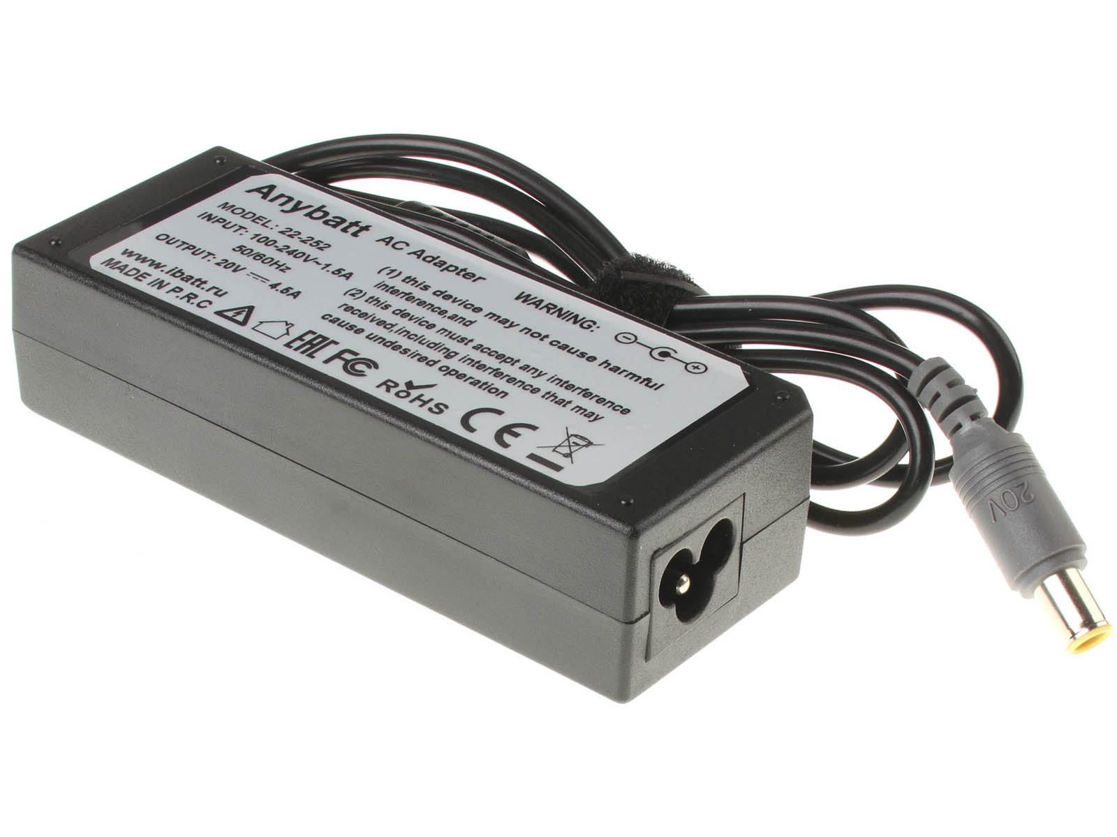 Блок питания (адаптер питания) для ноутбука IBM-Lenovo ThinkPad L520. Артикул 22-252. Напряжение (V): 20