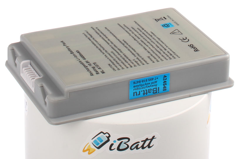 Аккумуляторная батарея M9756G для ноутбуков Apple. Артикул iB-A428.Емкость (mAh): 4400. Напряжение (V): 10,8