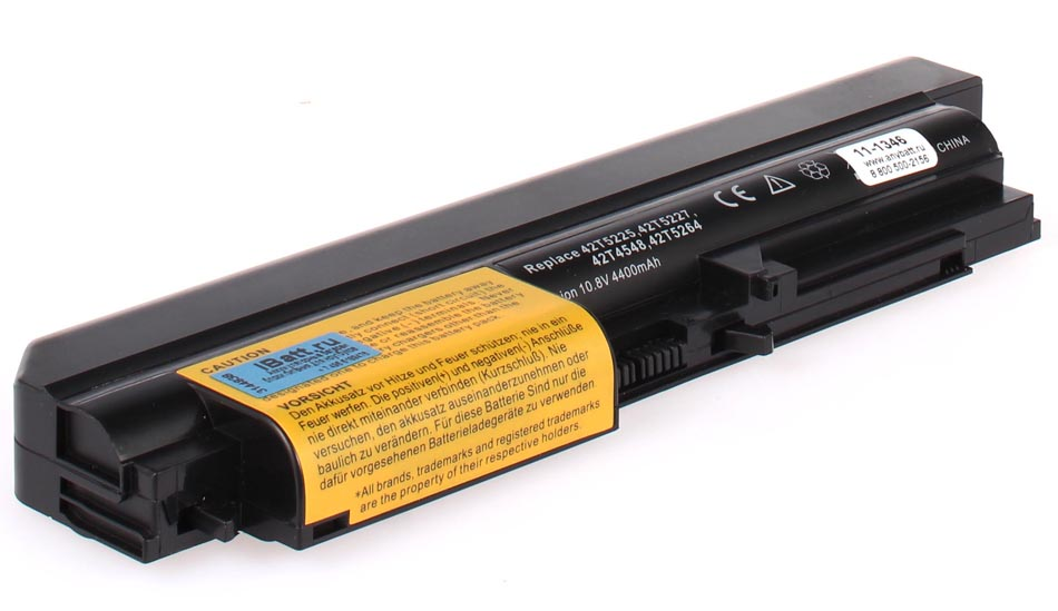 Аккумуляторная батарея 42T4548 для ноутбуков IBM-Lenovo. Артикул 11-1346.Емкость (mAh): 4400. Напряжение (V): 11,1