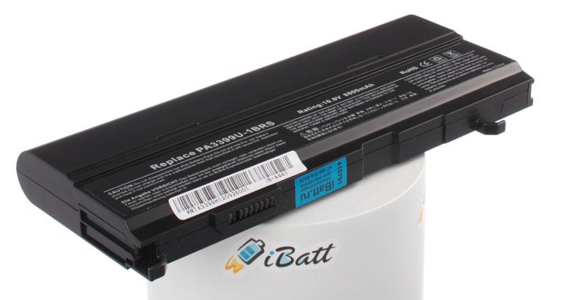 Аккумуляторная батарея iBatt iB-A447 для ноутбука ToshibaЕмкость (mAh): 8800. Напряжение (V): 10,8