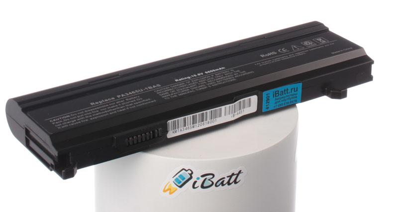 Аккумуляторная батарея PA3465U-1BRS для ноутбуков Toshiba. Артикул iB-A451.Емкость (mAh): 6600. Напряжение (V): 10,8
