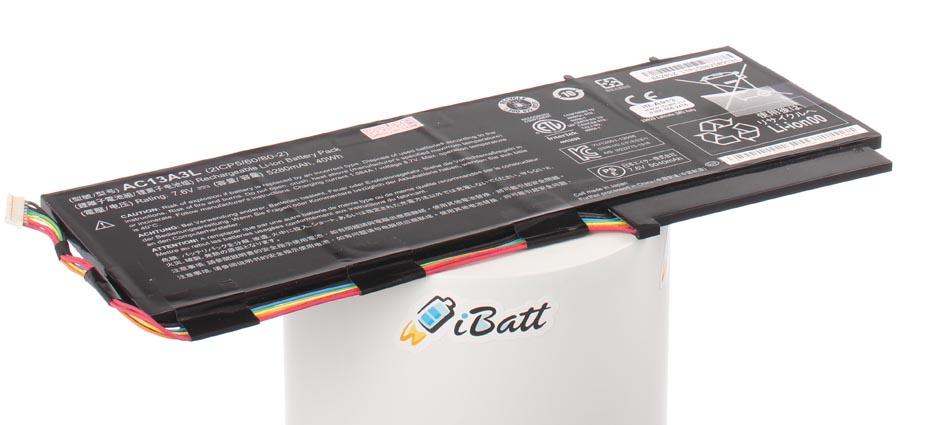 Аккумуляторная батарея AC13A3L для ноутбуков Acer. Артикул iB-A913.Емкость (mAh): 5100. Напряжение (V): 7,6