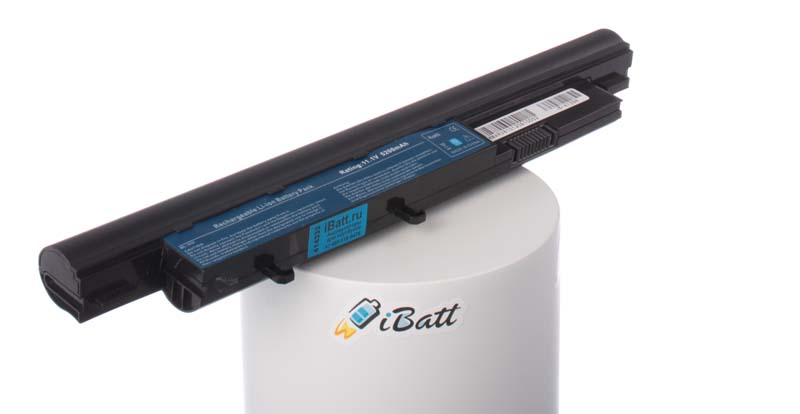 Аккумуляторная батарея AS09D75 для ноутбуков Gateway. Артикул iB-A139H.Емкость (mAh): 5200. Напряжение (V): 11,1