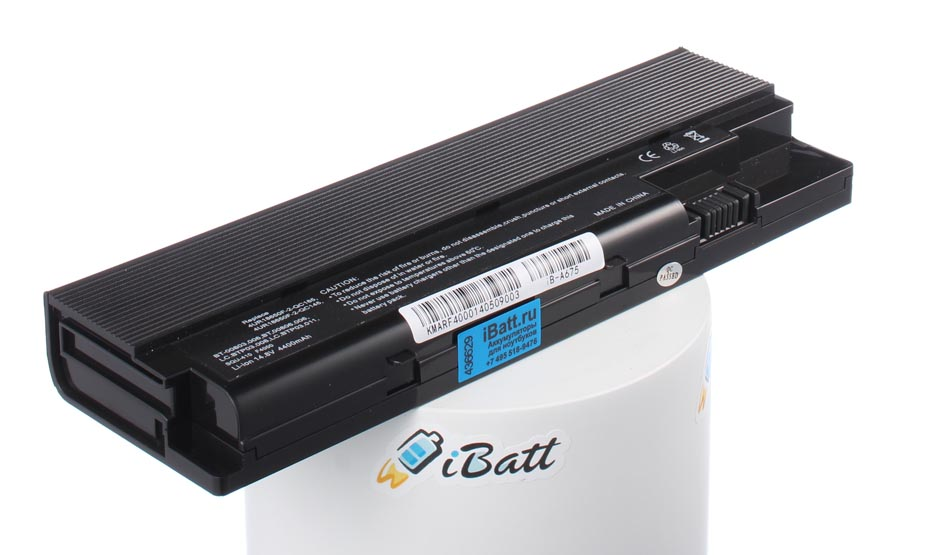 Аккумуляторная батарея LC.BTP03.009 для ноутбуков Acer. Артикул iB-A675.Емкость (mAh): 4400. Напряжение (V): 14,8