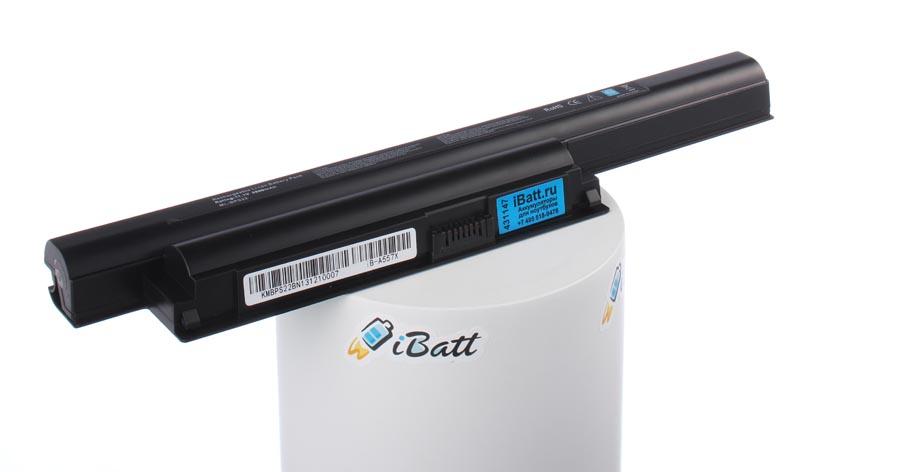Аккумуляторная батарея iBatt iB-A557X для ноутбука SonyЕмкость (mAh): 5800. Напряжение (V): 11,1