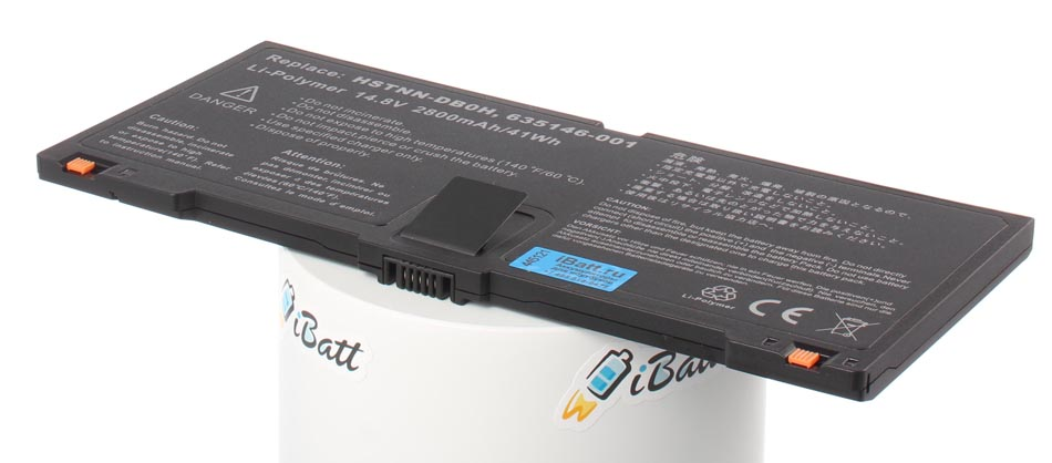 Аккумуляторная батарея QK648AA для ноутбуков HP-Compaq. Артикул iB-A418.Емкость (mAh): 2800. Напряжение (V): 14,8