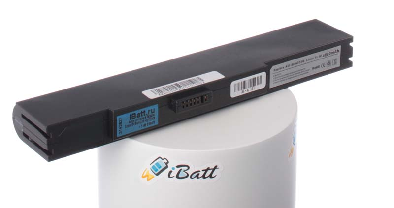 Аккумуляторная батарея iBatt iB-A167 для ноутбука AsusЕмкость (mAh): 4400. Напряжение (V): 11,1