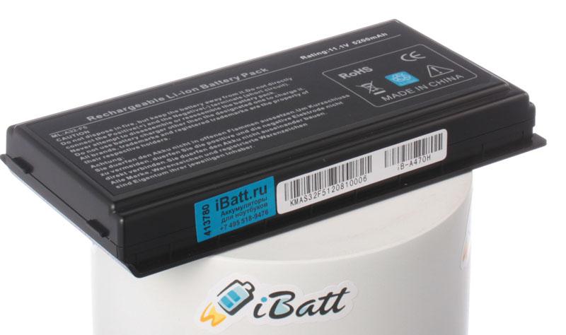 Аккумуляторная батарея для ноутбука Asus X50SL. Артикул iB-A470H.Емкость (mAh): 5200. Напряжение (V): 11,1