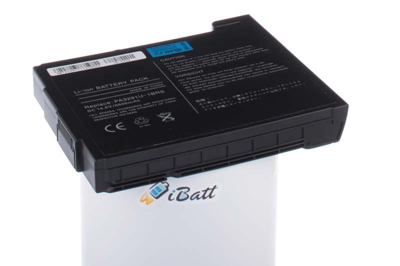 Аккумуляторная батарея PA3291U-1BAS для ноутбуков Toshiba. Артикул iB-A435.Емкость (mAh): 6600. Напряжение (V): 14,8