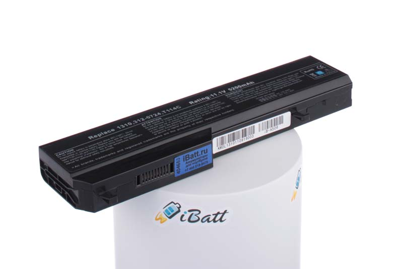 Аккумуляторная батарея 312-0725 для ноутбуков Dell. Артикул iB-A506.Емкость (mAh): 4400. Напряжение (V): 11,1