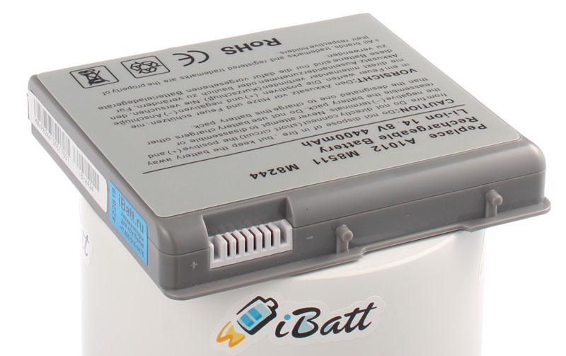 Аккумуляторная батарея M8244G/A для ноутбуков Apple. Артикул iB-A424.Емкость (mAh): 4400. Напряжение (V): 14,8