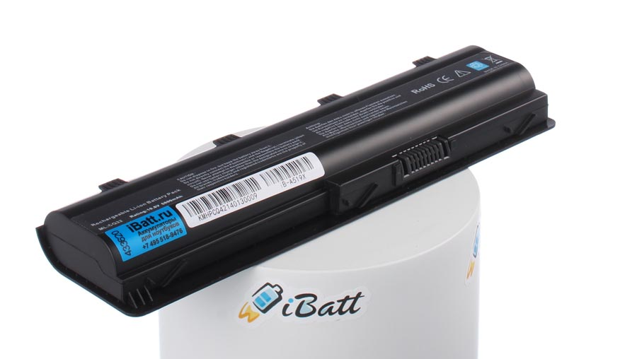 Аккумуляторная батарея для ноутбука HP-Compaq ENVY 17-2090es. Артикул iB-A519X.Емкость (mAh): 6800. Напряжение (V): 10,8