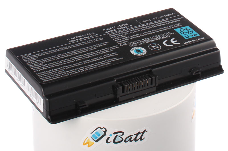 Аккумуляторная батарея PA3615U-1BRM для ноутбуков Toshiba. Артикул iB-A443H.Емкость (mAh): 5200. Напряжение (V): 10,8