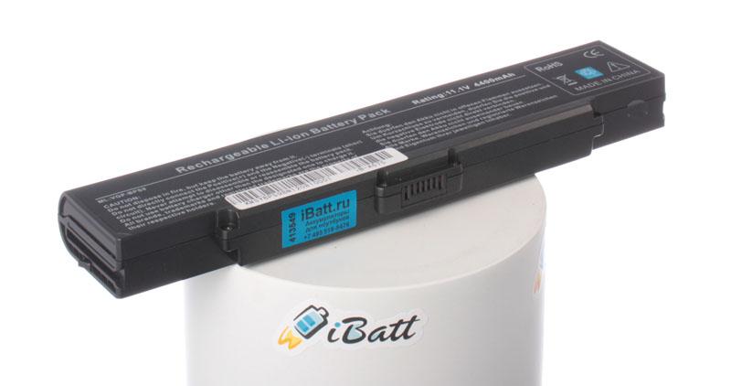 Аккумуляторная батарея iBatt iB-A575 для ноутбука SonyЕмкость (mAh): 4400. Напряжение (V): 11,1