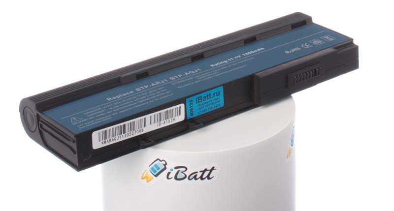 Аккумуляторная батарея для ноутбука Acer TravelMate 2423NWXCi. Артикул iB-A152H.Емкость (mAh): 7800. Напряжение (V): 11,1