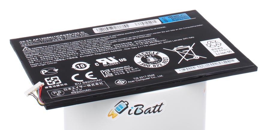 Аккумуляторная батарея AP12D8K для ноутбуков Acer. Артикул iB-A640.Емкость (mAh): 7300. Напряжение (V): 3,7
