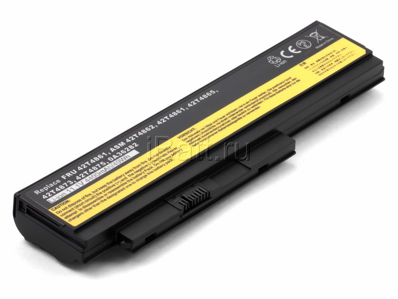 Аккумуляторная батарея 42T4875 для ноутбуков IBM-Lenovo. Артикул 11-1335.Емкость (mAh): 4400. Напряжение (V): 11,1