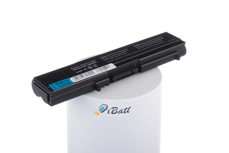 Аккумуляторная батарея PA3332U-1BRS для ноутбуков Toshiba. Артикул iB-A437.Емкость (mAh): 4400. Напряжение (V): 11,1
