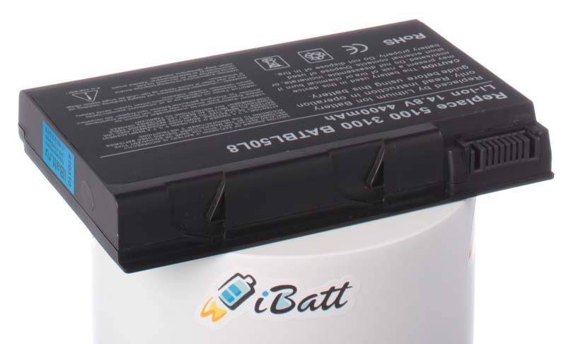 Аккумуляторная батарея для ноутбука Acer TravelMate 2491LCi. Артикул iB-A117.Емкость (mAh): 4400. Напряжение (V): 14,8