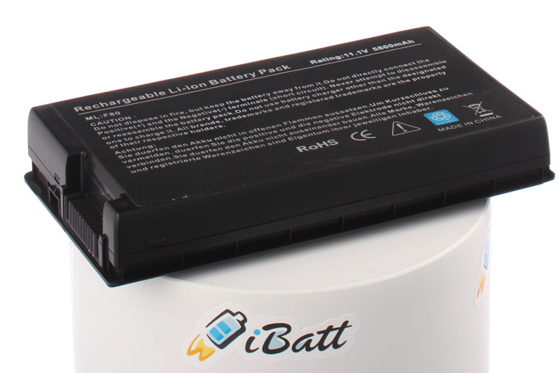 Аккумуляторная батарея A32-F80 для ноутбуков Asus. Артикул iB-A215X.Емкость (mAh): 5800. Напряжение (V): 10,8