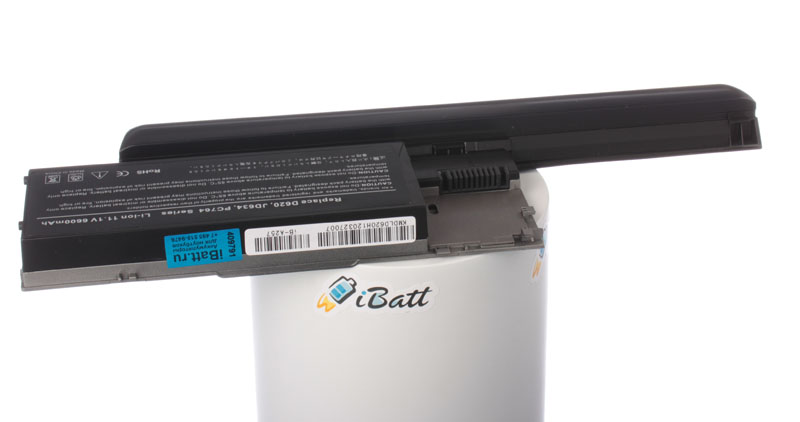 Аккумуляторная батарея JD616 для ноутбуков Dell. Артикул iB-A257H.Емкость (mAh): 7800. Напряжение (V): 11,1