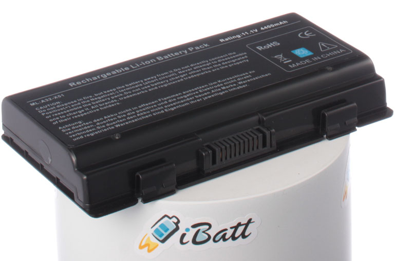 Аккумуляторная батарея для ноутбука Asus X51H. Артикул iB-A182.Емкость (mAh): 4400. Напряжение (V): 11,1