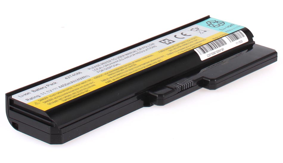 Аккумуляторная батарея для ноутбука IBM-Lenovo IdeaPad G550 59028763. Артикул 11-1533.Емкость (mAh): 4400. Напряжение (V): 11,1