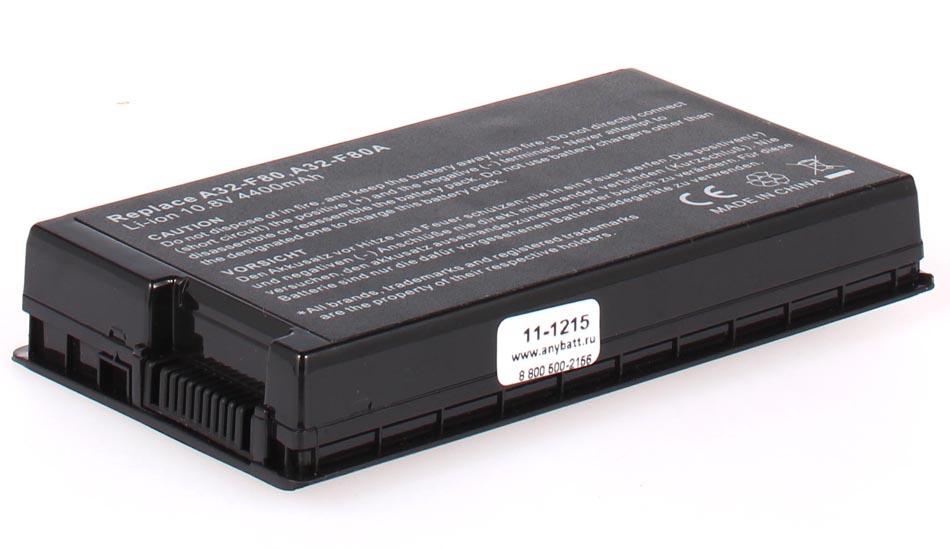 Аккумуляторная батарея A32-F80H для ноутбуков Asus. Артикул 11-1215.Емкость (mAh): 4400. Напряжение (V): 10,8
