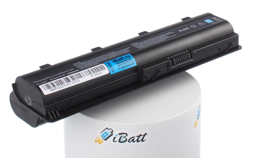 Аккумуляторная батарея для ноутбука HP-Compaq CQ58-301SR. Артикул iB-A566X.Емкость (mAh): 11600. Напряжение (V): 10,8