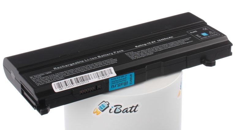 Аккумуляторная батарея iBatt iB-A453H для ноутбука ToshibaЕмкость (mAh): 10400. Напряжение (V): 10,8