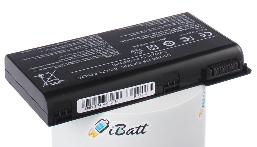 Аккумуляторная батарея BTY-L74 для ноутбуков MSI. Артикул iB-A440X.Емкость (mAh): 5800. Напряжение (V): 11,1