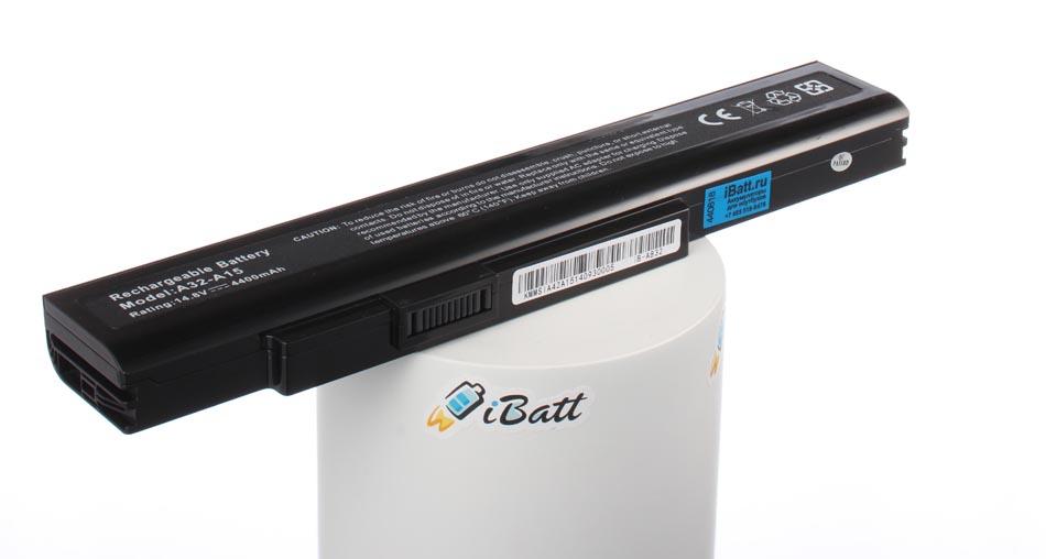 Аккумуляторная батарея A42-A15 для ноутбуков MSI. Артикул iB-A832.Емкость (mAh): 4400. Напряжение (V): 14,8