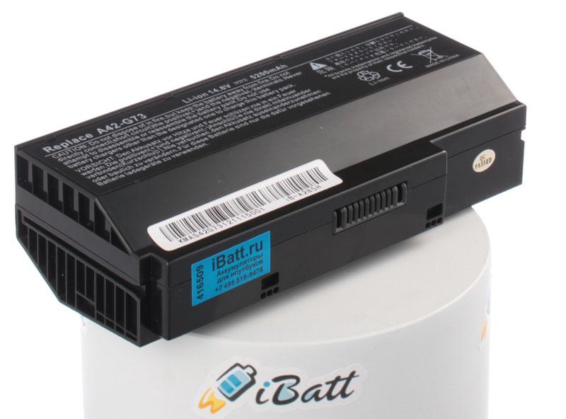 Аккумуляторная батарея для ноутбука Asus G73SW. Артикул iB-A285H.Емкость (mAh): 5200. Напряжение (V): 14,8