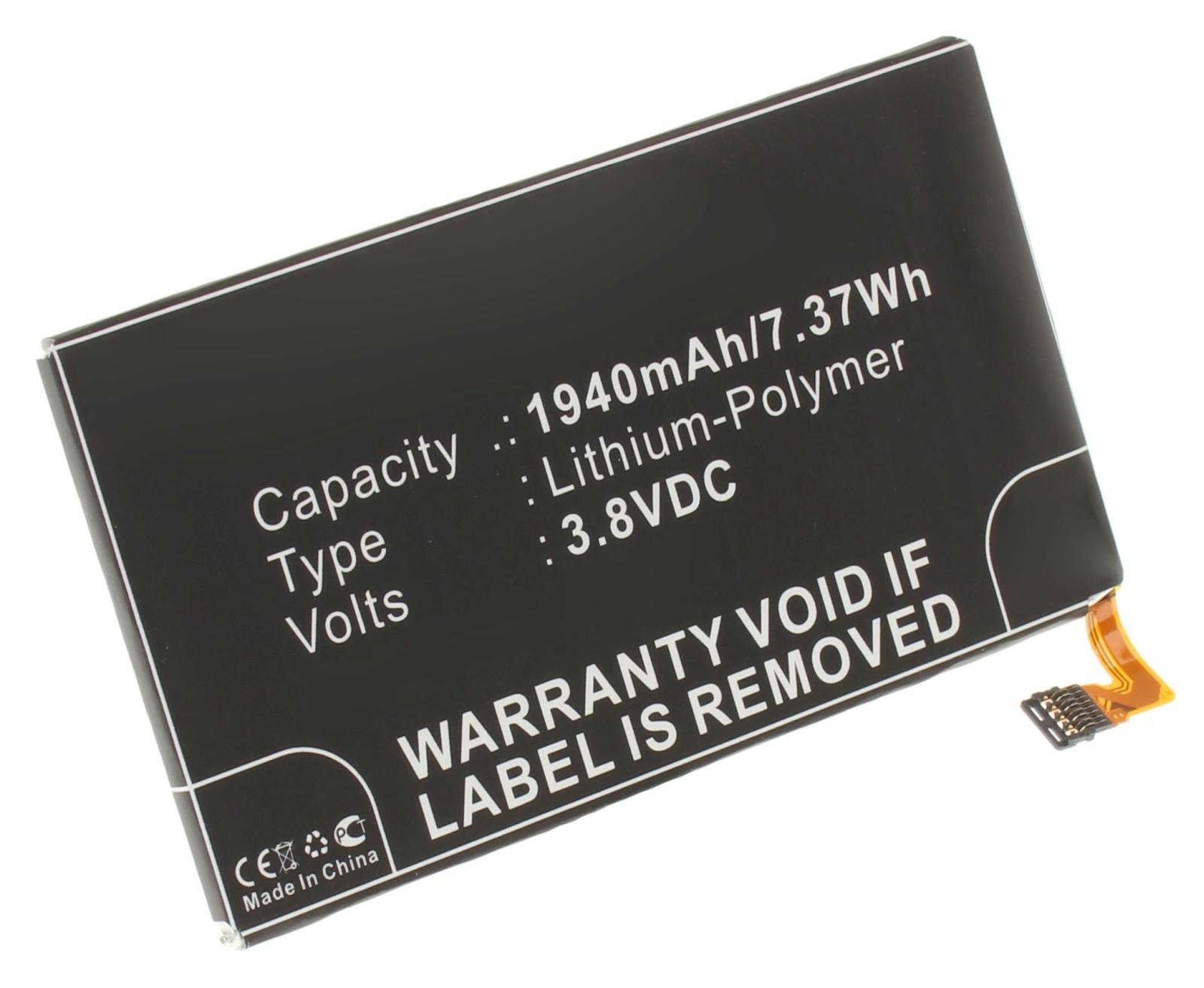 Аккумуляторная батарея для телефона, смартфона Motorola RAZR I. Артикул iB-M588.Емкость (mAh): 1940. Напряжение (V): 3,8