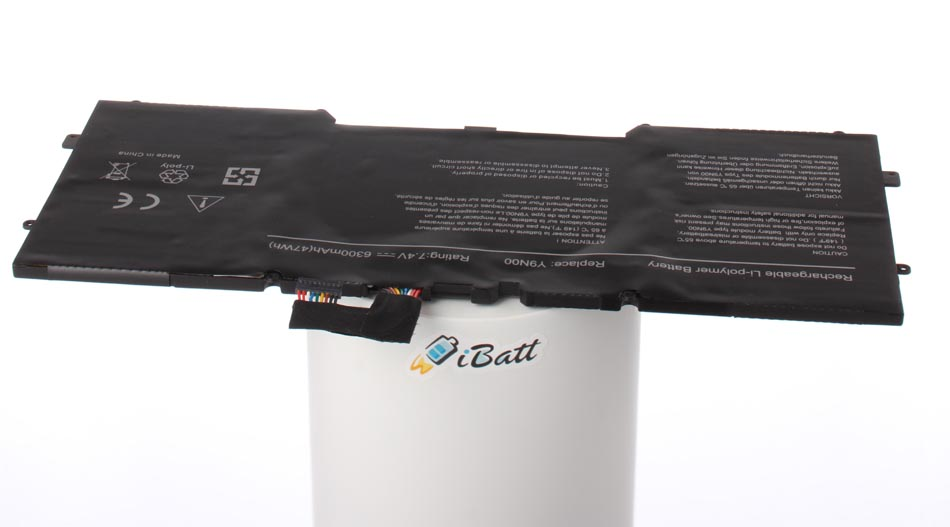Аккумуляторная батарея Y9N00 для ноутбуков Dell. Артикул iB-A744.Емкость (mAh): 6300. Напряжение (V): 7,4