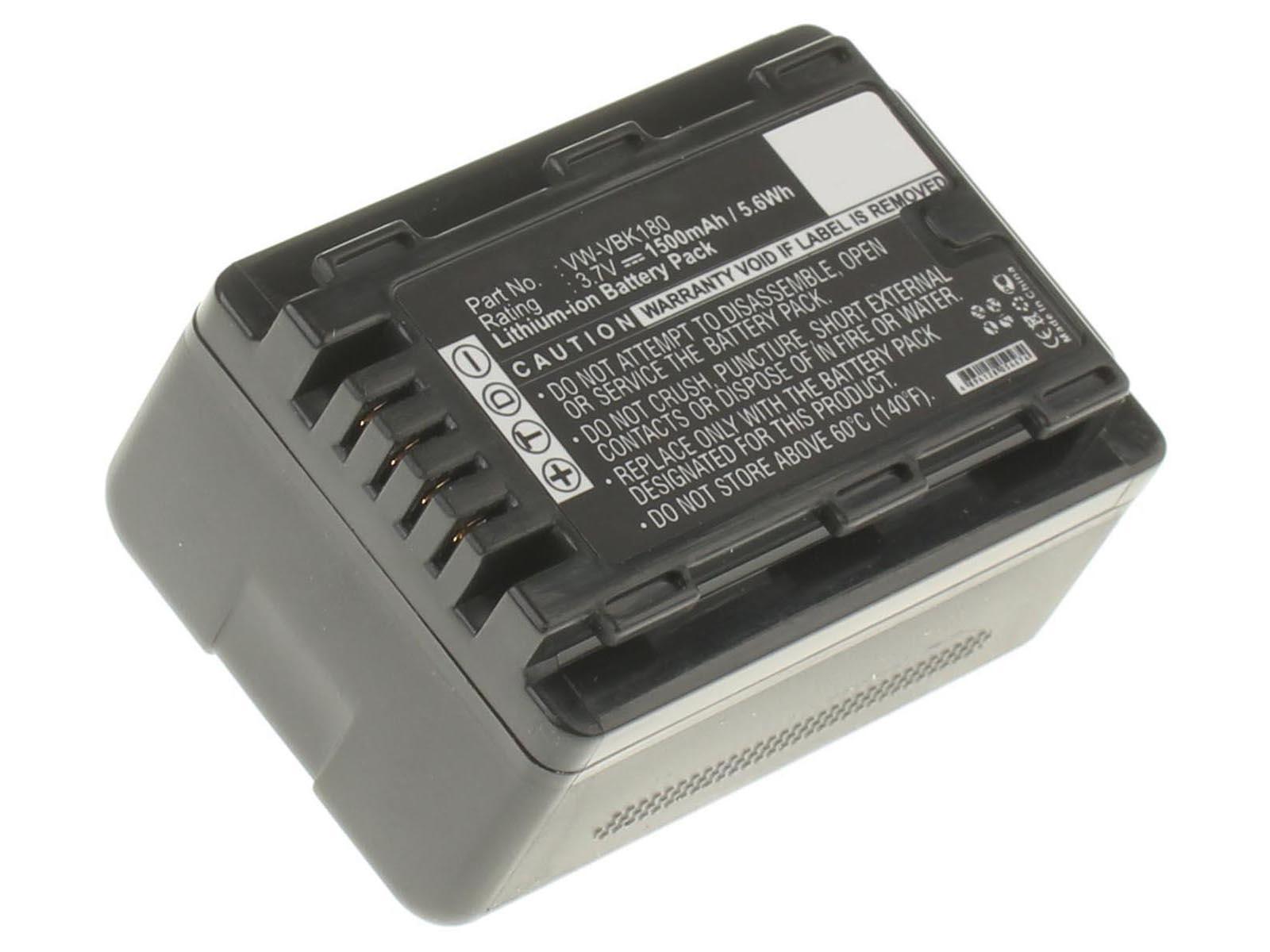 Аккумуляторные батареи для фотоаппаратов и видеокамер Panasonic HDC-SD40Емкость (mAh): 1500. Напряжение (V): 3,7
