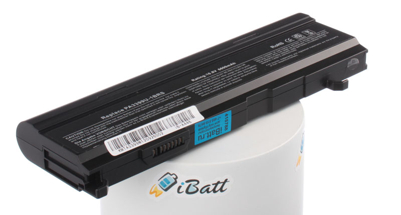 Аккумуляторная батарея iBatt iB-A446 для ноутбука ToshibaЕмкость (mAh): 6600. Напряжение (V): 10,8