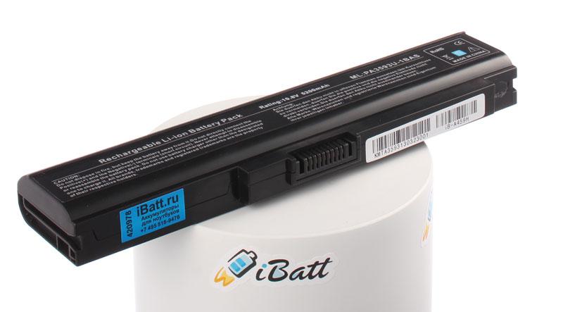 Аккумуляторная батарея iBatt iB-A459H для ноутбука ToshibaЕмкость (mAh): 5200. Напряжение (V): 10,8