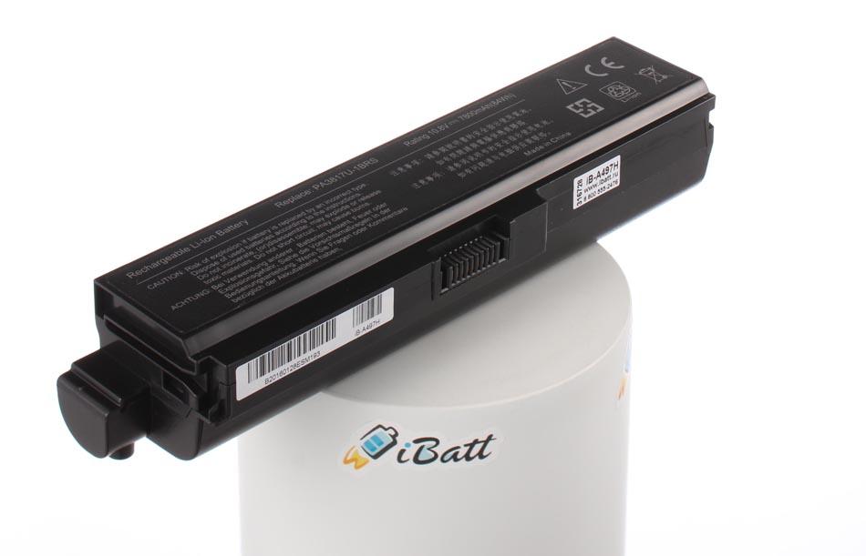 Аккумуляторная батарея PA3819U-1BRS для ноутбуков Toshiba. Артикул iB-A497H.Емкость (mAh): 7800. Напряжение (V): 10,8