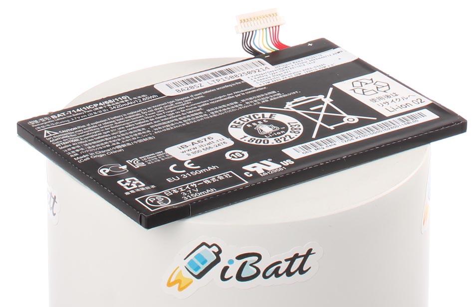 Аккумуляторная батарея iBatt iB-A676 для ноутбука AcerЕмкость (mAh): 3420. Напряжение (V): 3,7
