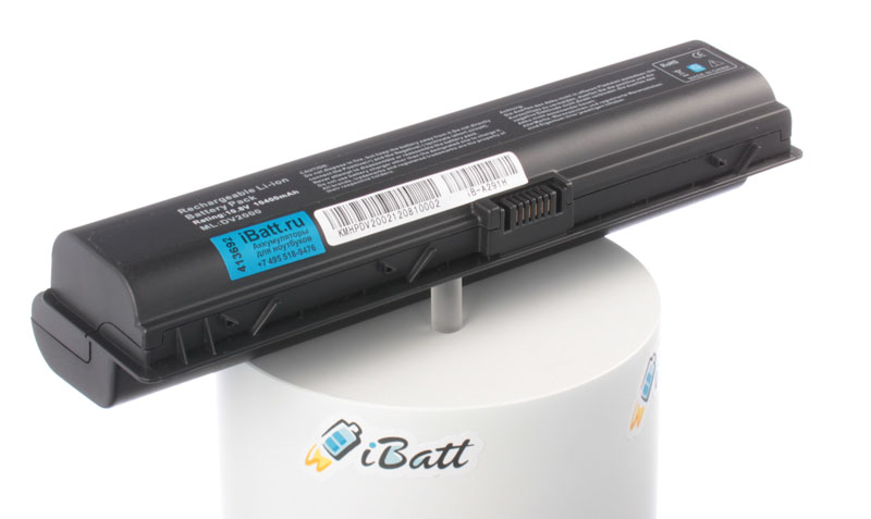 Аккумуляторная батарея для ноутбука HP-Compaq Pavilion dv2036TX. Артикул iB-A291H.Емкость (mAh): 10400. Напряжение (V): 10,8