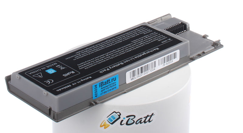 Аккумуляторная батарея 0JD605 для ноутбуков Dell. Артикул iB-A255X.Емкость (mAh): 5800. Напряжение (V): 11,1